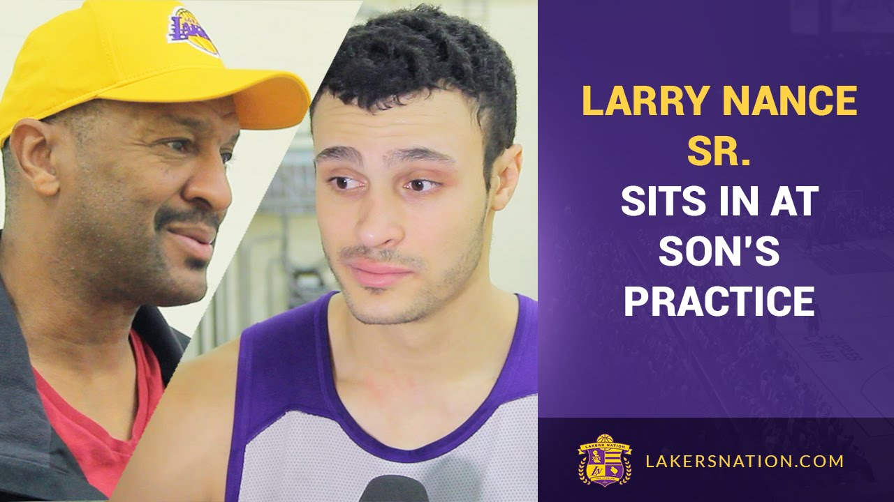 Larry Nance Sr Visits Practice Slam Dunk Contest For His Son