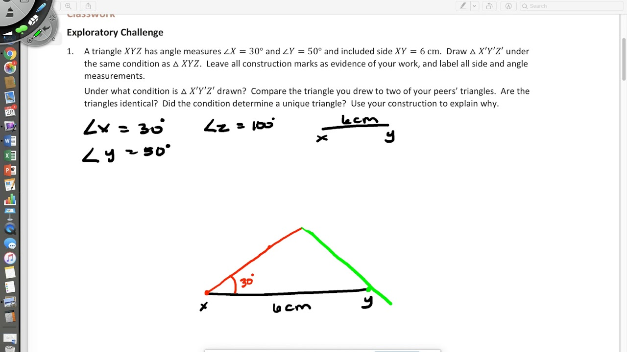 hight resolution of Conditions for a Unique Triangle - AAS (examples