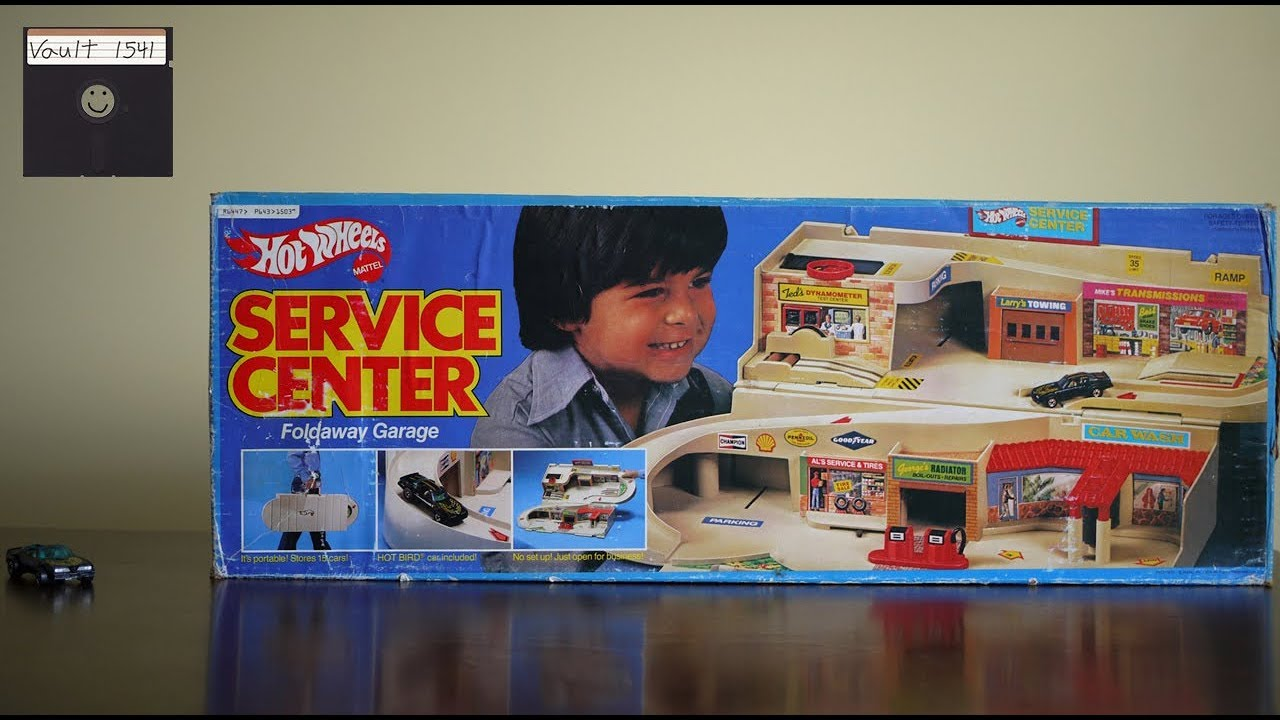 Hot Wheels Service Center Foldaway Garage Youtube