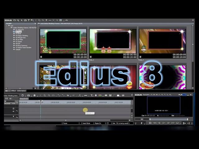 Indian Wedding Frames Mangel Fere,  Effects for Edius 7,8,9 ( DVD-2 )