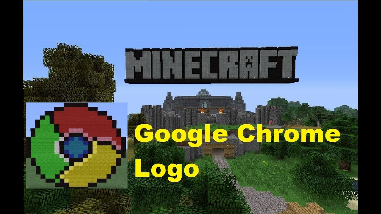 Minecraft Pixel Art: Google Chrome Logo Tutorial - YouTube