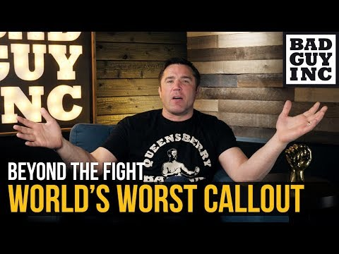 The WORST callout in mixed martial arts history...