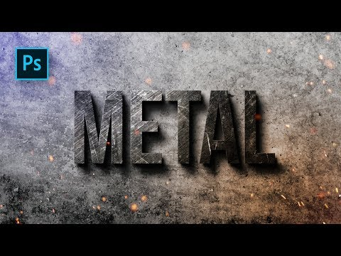 How To Create Metal Text Effect Design In Photoshop - Photoshop Tutorials