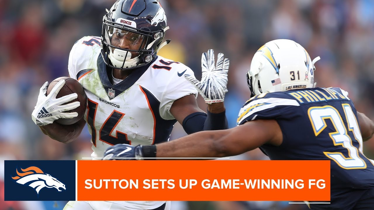Courtland Sutton keeps the faith during Denver's game-winning drive