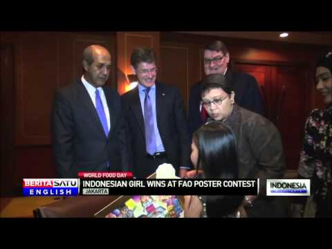 Indonesian Girl Wins Prize for World Food Day Poster