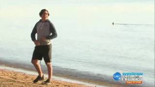 Johnathan Thurston trains with the sharks