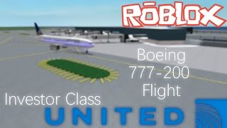 ROBLOX - United Airlines Boeing 777-200 Investor Class