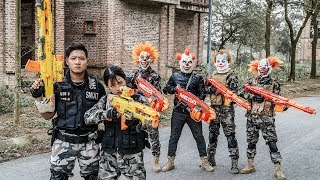 LTT Films : Silver Flash Nerf Guns Fight Criminal Group Tiger Mask  High-tech Weapons