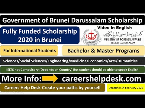 Government of Brunei Darussalam Scholarship 2020-Fully Funded| Details & Submission in English