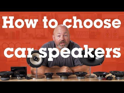 How to choose car speakers | Crutchfield