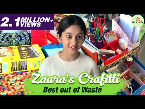 Zaara's Crafitti   Best out of Waste   Episode 4   Wow Life