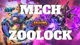 The NEW ZOO?!   Mech Zoolock   Rise of Shadows   Hearthstone