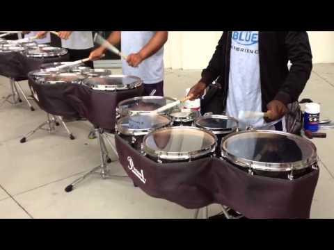 Blue Devils Drumline 2012 quads - triplet accent paradiddle exercise