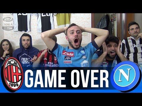 Game over... milan 0-0 napoli | live reaction tifosi napoletani milanisti e juventini
