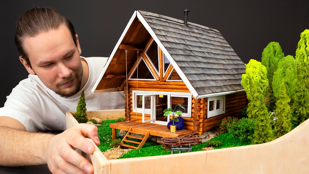How To Make Miniature Wooden Chalet | Woodworking DIY ?