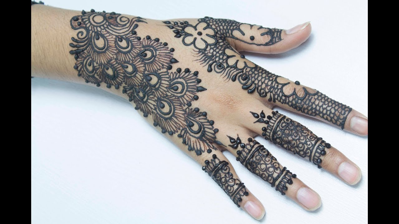 How To Apply Flowers And Peacock Mix Mehndi Henna Design Amazing