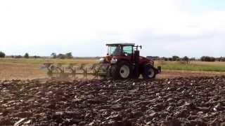 Versatile 260 ploughing with 6 furrow Dowdeswell near louth
