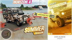 750,000 Skill Score Wrecking Ball Skill Forza Horizon 4 Summer Forzathon Challenge Carte Blanche FH4