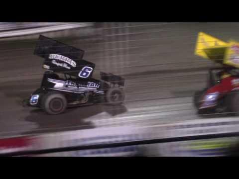 River Cities Speedway NOSA Sprint Car A-Main (Blazin' Back Row Challenge) (9/9/16)