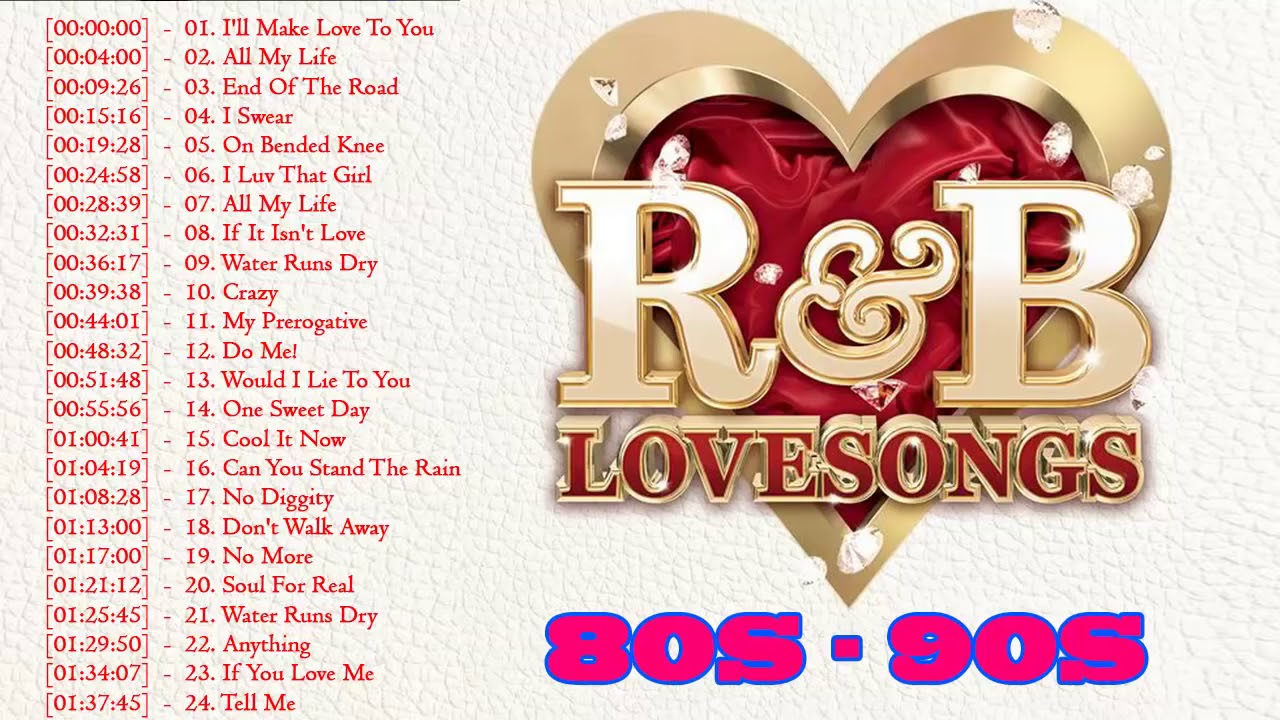 Download R&B Love Songs 80's 90's Playlist ♥♥♥♥ Best Of R&B Love Songs collection ♥♥♥♥ R&B Romantic Mix