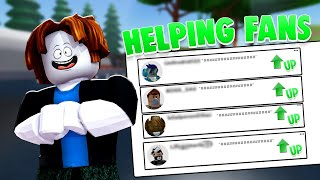 HELPING FAN ACCOUNTS TO BE PRO | Unboxing Simulator (ROBLOX)