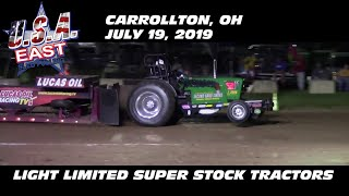 7/19/19 USA-East Carrollton, OH Light Limited Super Stock Tractors