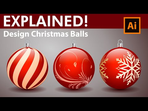 How To Design Decorative Christmas Balls - Adobe Illustrator Tutorial