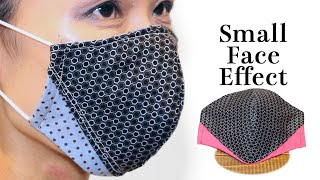 Small Face Effect Face Mask Sewing Tutorial 4 Layer Mask with Different Shapes