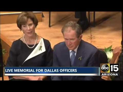 FULL: President George W. Bush speaks at Memorial for fallen officers in Dallas, Texas
