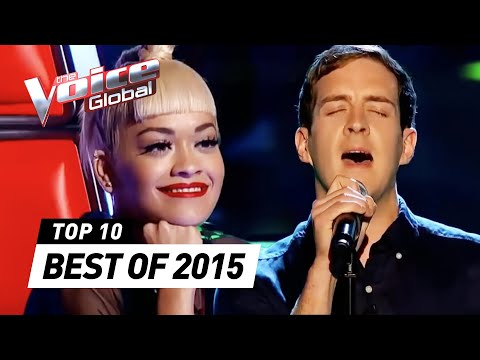 Видео: BEST Blind Auditions of 2015  The Voice Global