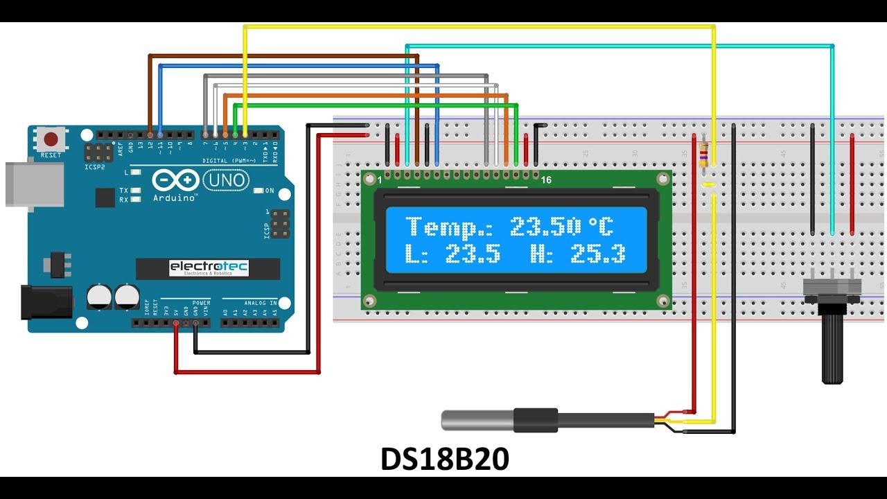 Medir La Temperatura De Líquidos De Manera Sencilla Sensor Ds18b20 Youtube