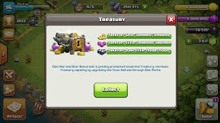 How to store 100,000 gold,elexir and 95,000 dark elexir!!😁😱😱😎:Town Hall 8