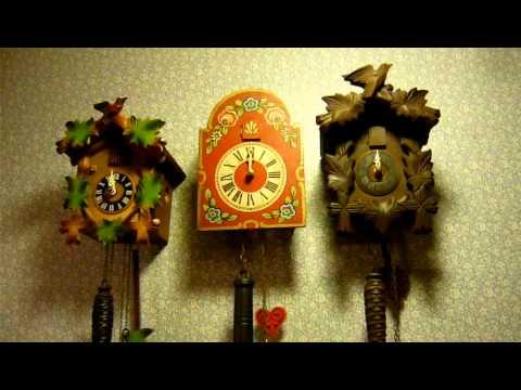 3 Triple Plate Cuckoo Clocks