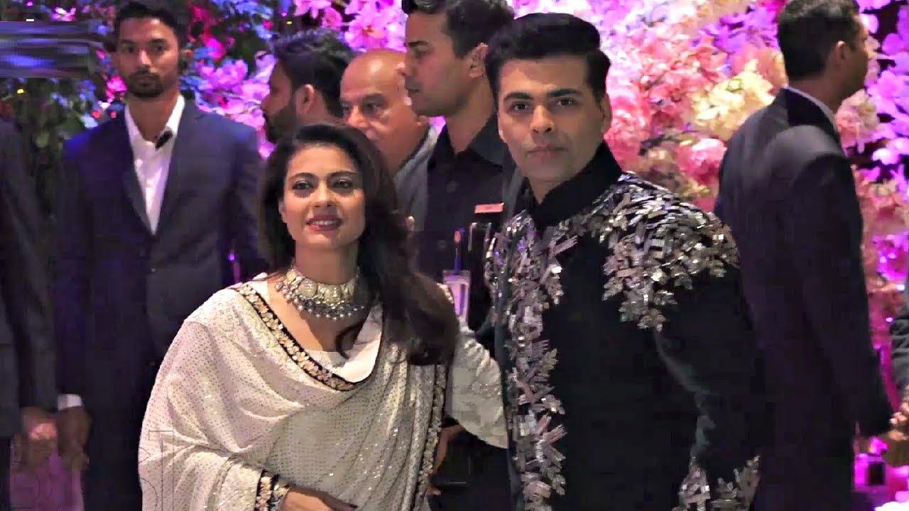 Kajol And Karan Johar Together At Akash Ambani And Shloka Mehta Engagement Party