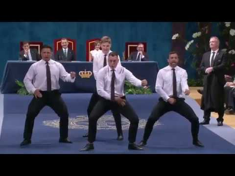 All Blacks perform Haka at the Princess of Asturias Award ceremony in Spain.