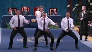 All Blacks perform Haka at the Princess of Asturias Award ceremony in Spain.