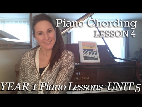 Piano Chording Lesson 4 [5-4] Blow the Man Down - Chording with Major and Minor Triads - Tutorial
