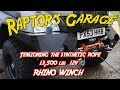 Rhino 13500lbs Winch Tensioning the Synthetic Rope Line | Raptor\'s Garage