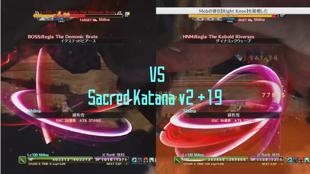 SAO: Hollow Realization 3 11 - Sacred Katana v2 +19 VS Regia 155 & Regia 205