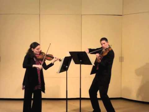 Trepanier/Larson, Mozart K423 I.Allegro, Duo in G major for violin & viola