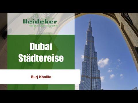 Dubai Städtereise Burj Khalifa Höchster Turm Der Welt Mit Heideker Reisen Youtube