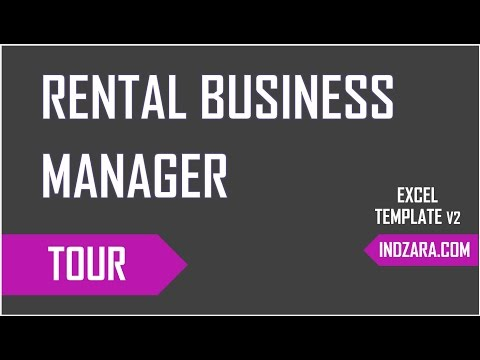 Inventory, Invoicing, Accounting  & Reporting For Rental Business - Excel Template Tour