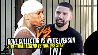 White Iverson & Bone Collector GO AT IT! Legendary Streetballer Pulls Up to the Ballislife Park Runs
