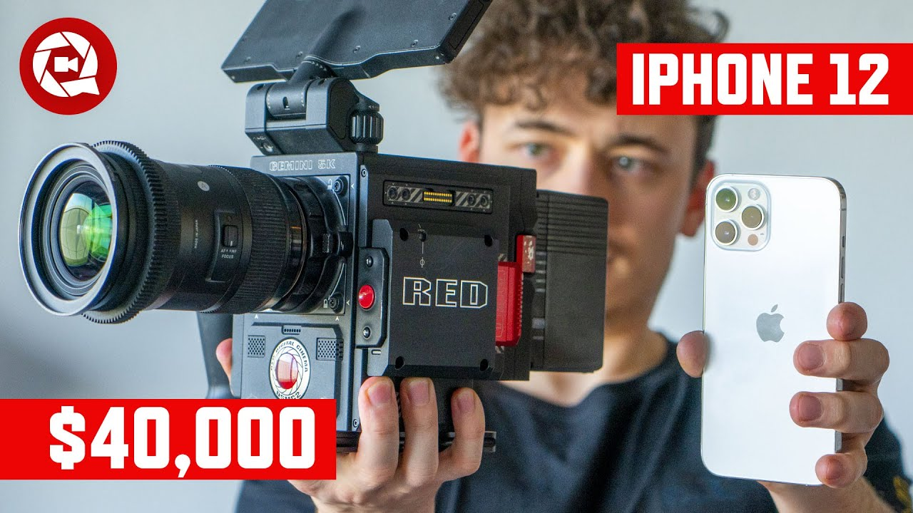 Hollywood RED vs iPhone 12 PRO Max: Real Life Comparison!