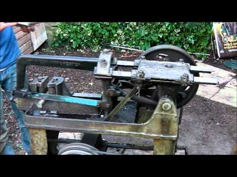 Rapidor Manchester Vintage Power Hacksaw Youtube