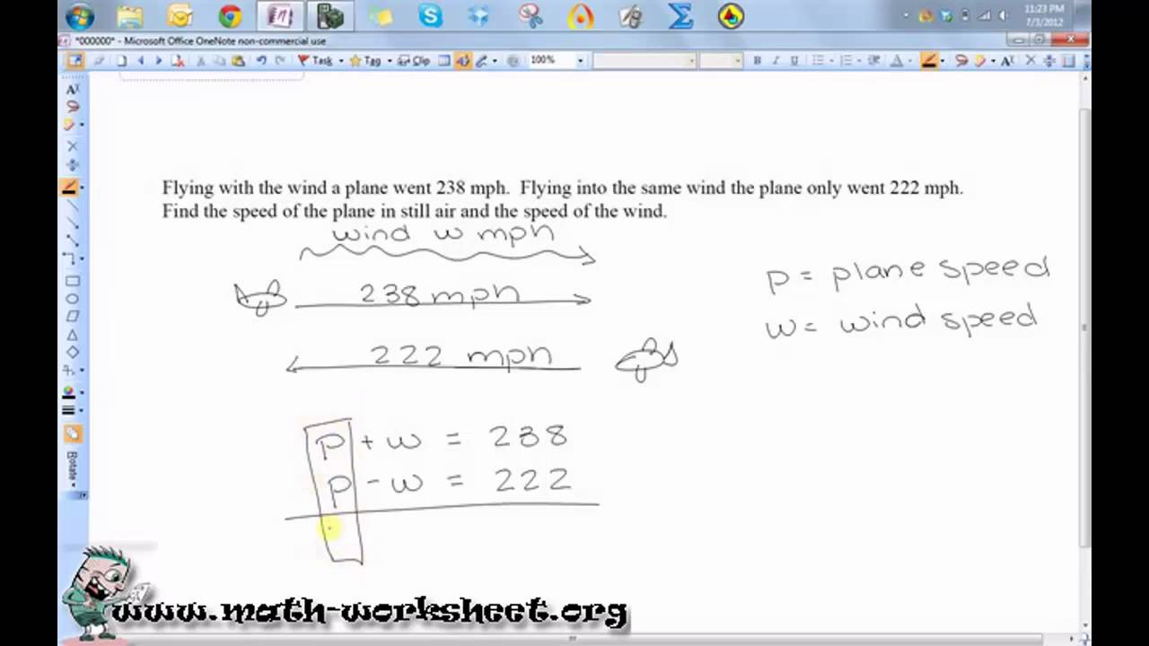 Algebra - Systems of Equations and Inequalities - Word problems ...
