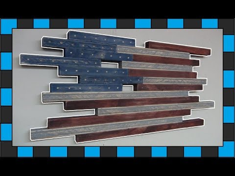 DIY Wooden Wall art! // How To Build a Wooden American Flag