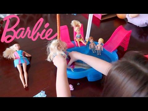 BARBIE POOL & SLIDE   ThePlusSideOfThings