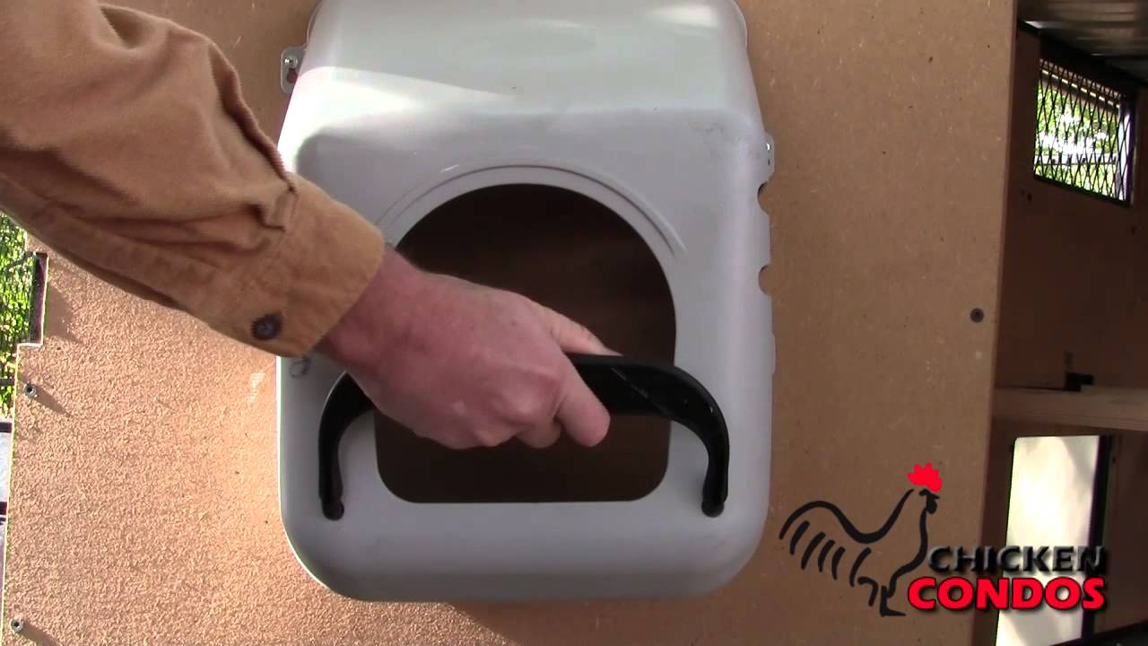 Density Of Plastic >> Wall Mounted Plastic Nesting Box from Chicken Condos - YouTube