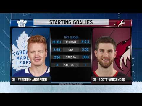 Molson Canadian Leafs Gameday: Toronto at Arizona - December 28, 2017